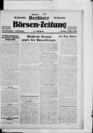 Berliner Börsen-Zeitung vom 09.03.1928