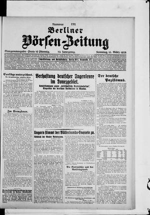 Berliner Börsen-Zeitung vom 11.03.1928