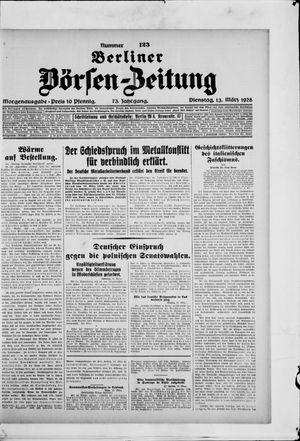 Berliner Börsen-Zeitung vom 13.03.1928