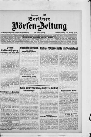 Berliner Börsen-Zeitung vom 15.03.1928