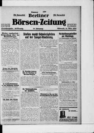 Berliner Börsen-Zeitung vom 21.03.1928