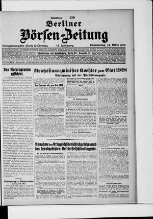 Berliner Börsen-Zeitung vom 22.03.1928