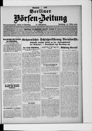 Berliner Börsen-Zeitung vom 25.03.1928