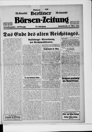 Berliner Börsen-Zeitung vom 31.03.1928