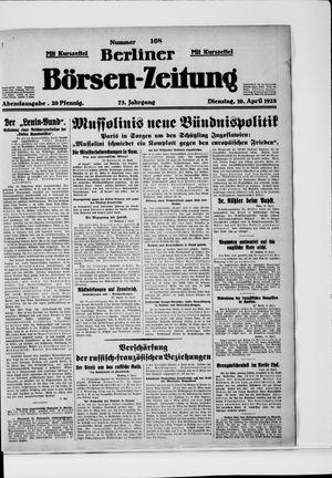 Berliner Börsen-Zeitung on Apr 10, 1928