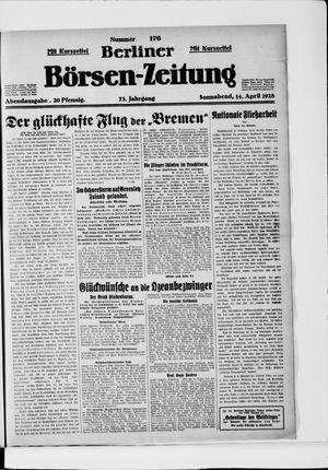 Berliner Börsen-Zeitung vom 14.04.1928