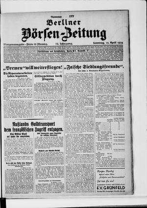Berliner Börsen-Zeitung vom 15.04.1928