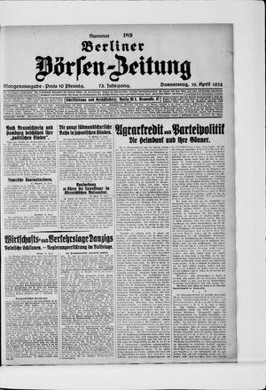 Berliner Börsen-Zeitung vom 19.04.1928