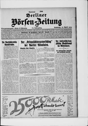 Berliner Börsen-Zeitung vom 22.04.1928