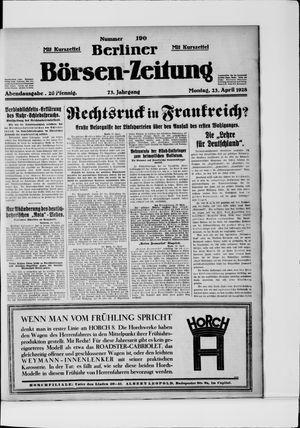 Berliner Börsen-Zeitung vom 23.04.1928