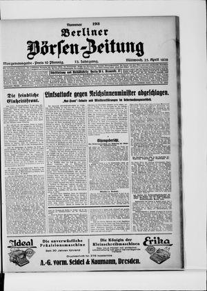 Berliner Börsen-Zeitung vom 25.04.1928