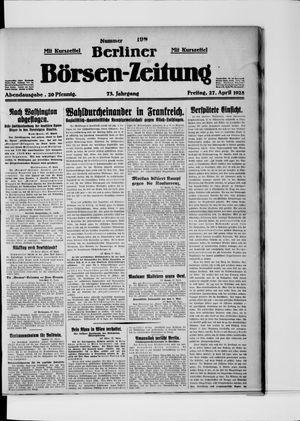 Berliner Börsen-Zeitung vom 27.04.1928