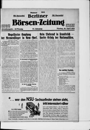 Berliner Börsen-Zeitung vom 30.04.1928