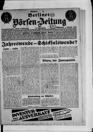 Berliner Börsen-Zeitung vom 01.01.1930