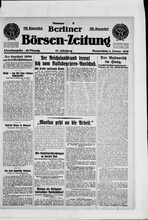Berliner Börsen-Zeitung vom 02.01.1930