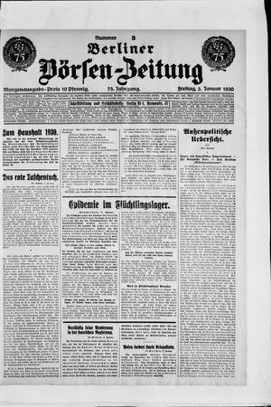 Berliner Börsen-Zeitung vom 03.01.1930