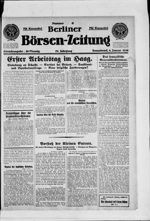 Berliner Börsen-Zeitung vom 04.01.1930