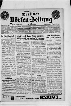 Berliner Börsen-Zeitung vom 07.01.1930