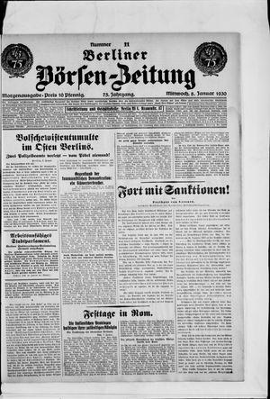 Berliner Börsen-Zeitung vom 08.01.1930