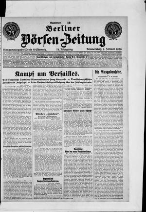 Berliner Börsen-Zeitung vom 09.01.1930
