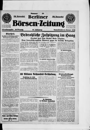 Berliner Börsen-Zeitung vom 11.01.1930