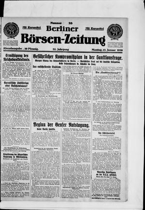 Berliner Börsen-Zeitung vom 13.01.1930