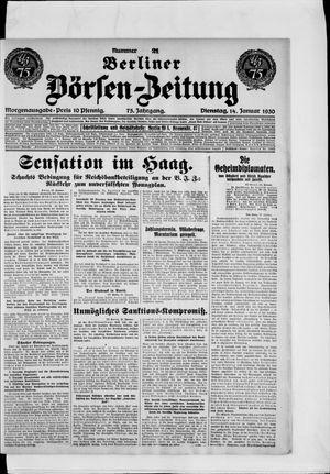 Berliner Börsen-Zeitung vom 14.01.1930