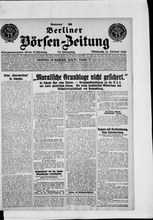 Berliner Börsen-Zeitung vom 15.01.1930