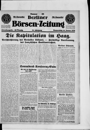 Berliner Börsen-Zeitung vom 16.01.1930