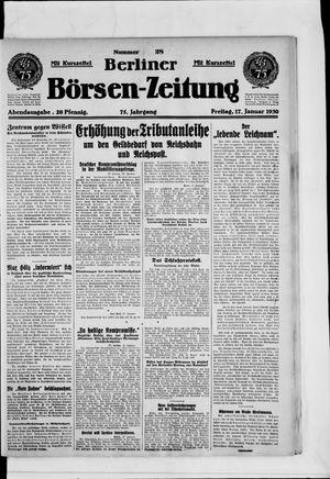 Berliner Börsen-Zeitung on Jan 17, 1930