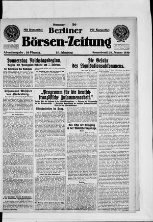 Berliner Börsen-Zeitung vom 18.01.1930