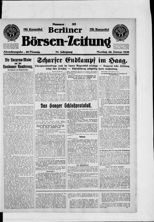 Berliner Börsen-Zeitung vom 20.01.1930