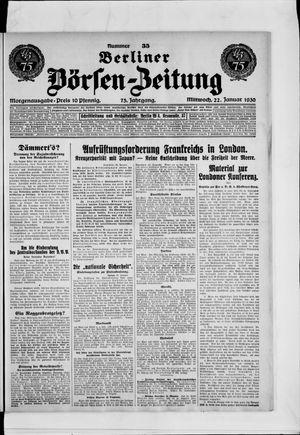 Berliner Börsen-Zeitung vom 22.01.1930