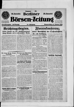 Berliner Börsen-Zeitung vom 23.01.1930