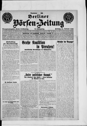 Berliner Börsen-Zeitung vom 24.01.1930