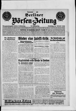 Berliner Börsen-Zeitung vom 26.01.1930