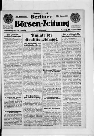 Berliner Börsen-Zeitung vom 27.01.1930