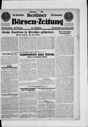 Berliner Börsen-Zeitung vom 30.01.1930