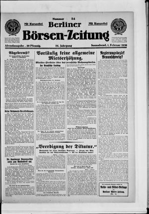 Berliner Börsen-Zeitung vom 01.02.1930