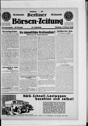 Berliner Börsen-Zeitung vom 03.02.1930