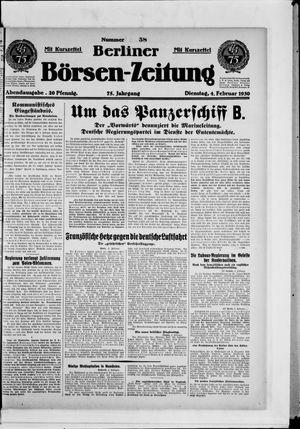 Berliner Börsen-Zeitung vom 04.02.1930