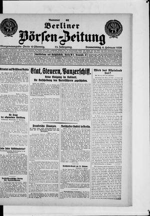 Berliner Börsen-Zeitung vom 06.02.1930