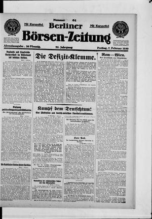 Berliner Börsen-Zeitung vom 07.02.1930