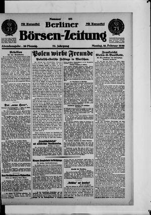 Berliner Börsen-Zeitung vom 10.02.1930