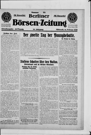 Berliner Börsen-Zeitung vom 12.02.1930