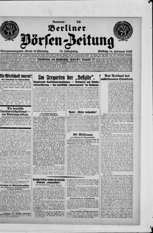 Berliner Börsen-Zeitung vom 14.02.1930