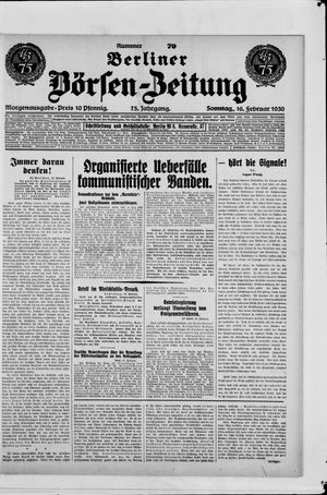 Berliner Börsen-Zeitung on Feb 16, 1930