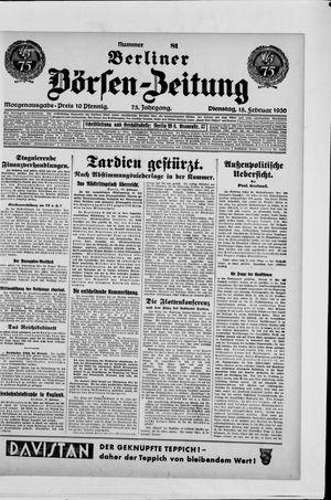Berliner Börsen-Zeitung vom 18.02.1930