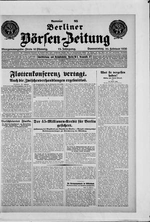 Berliner Börsen-Zeitung vom 20.02.1930