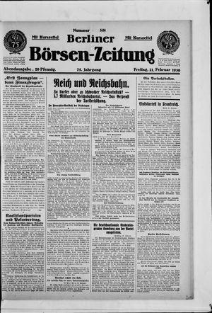 Berliner Börsen-Zeitung vom 21.02.1930